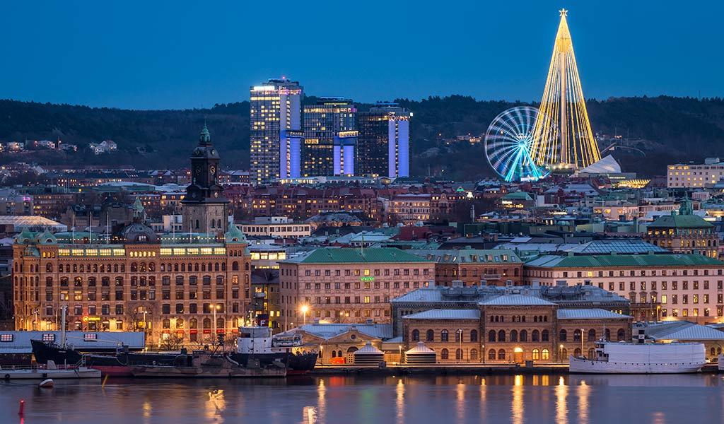 Nattlig vy över Göteborg Foto: Anders Wester/Mediabank Göteborg & Co